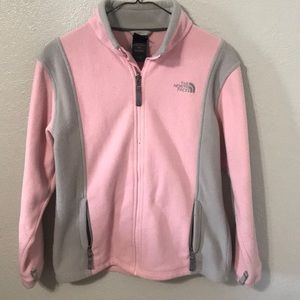 Pink The North Face zip up jacket 💓